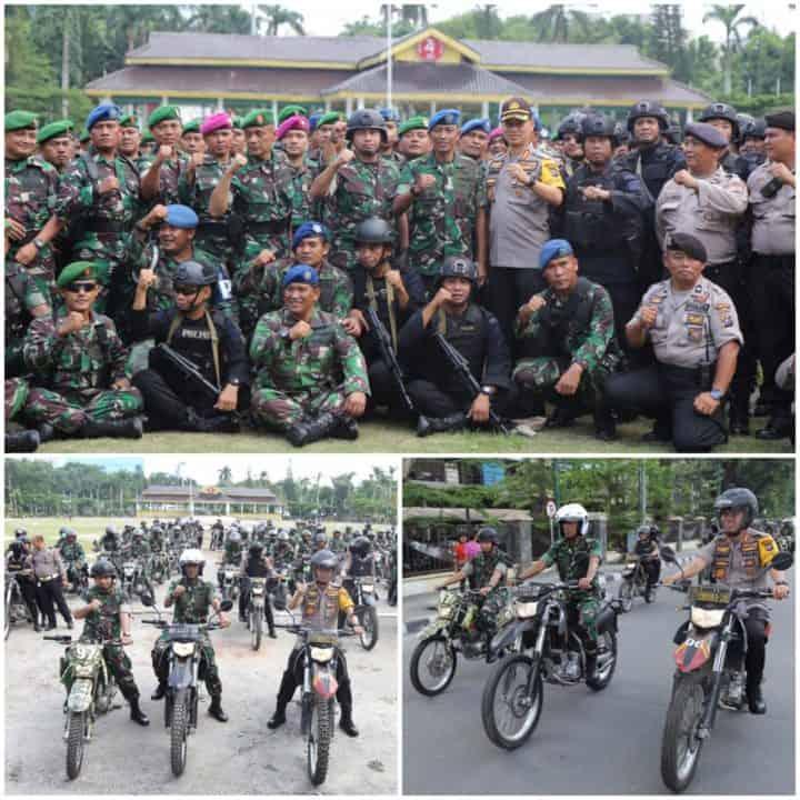 DANLANUD SOEWONDO MENGIKUTI PATROLI BERSAMA TNI-POLRI DALAM MENJAGA KONDUSIFITAS KOTA MEDAN