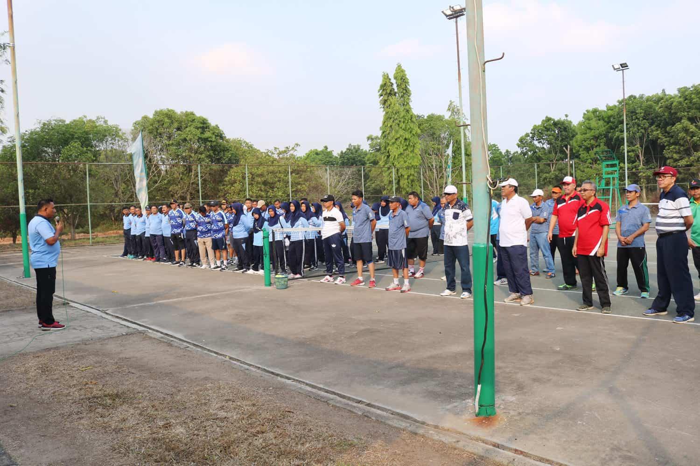 Olahraga Bersama Lanud Bny dengan PT. Sugar Group Companies (SGC)
