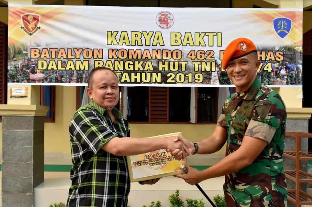 Yonko 462 Paskhas Karya Bakti Dalam Rangka HUT TNI Ke-74