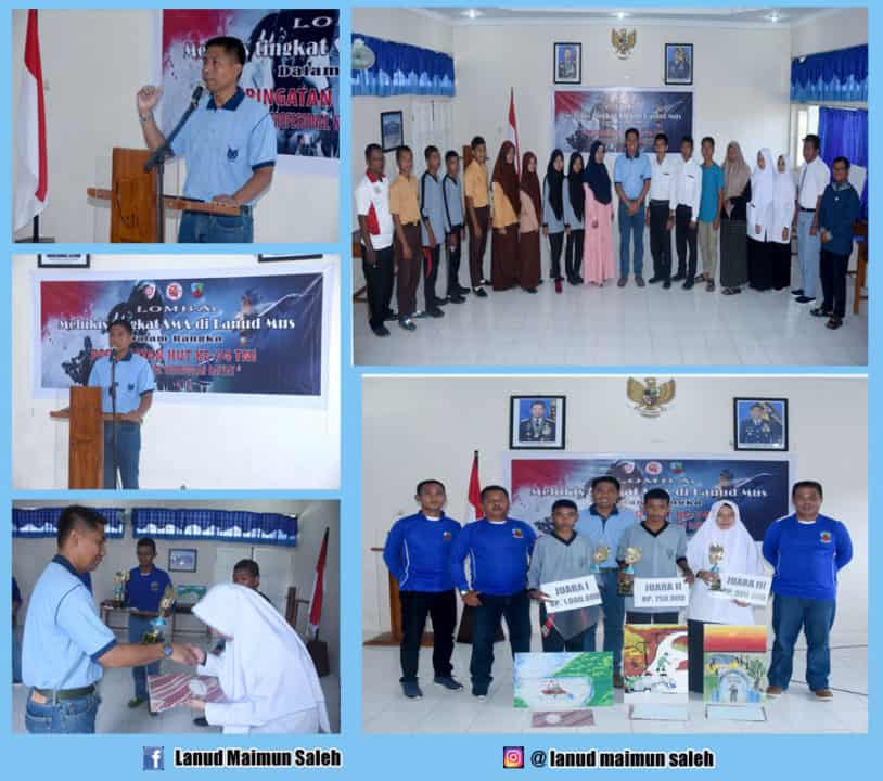 Lanud Maimun Saleh Menyelenggarakan Lomba Lukis Tingkat SLTA Se-Kota Sabang Dalam Rangka HUT TNI Ke-74