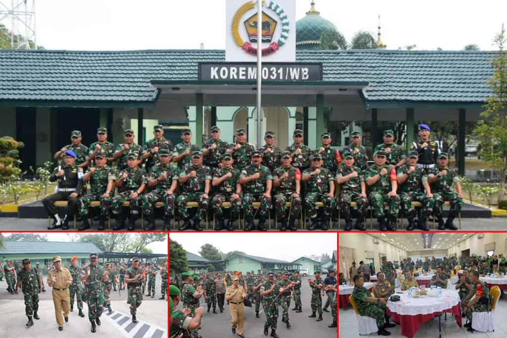 Danlanud Rsn Dampingi Panglima TNI Kunjungi Makorem 031 Wirabima