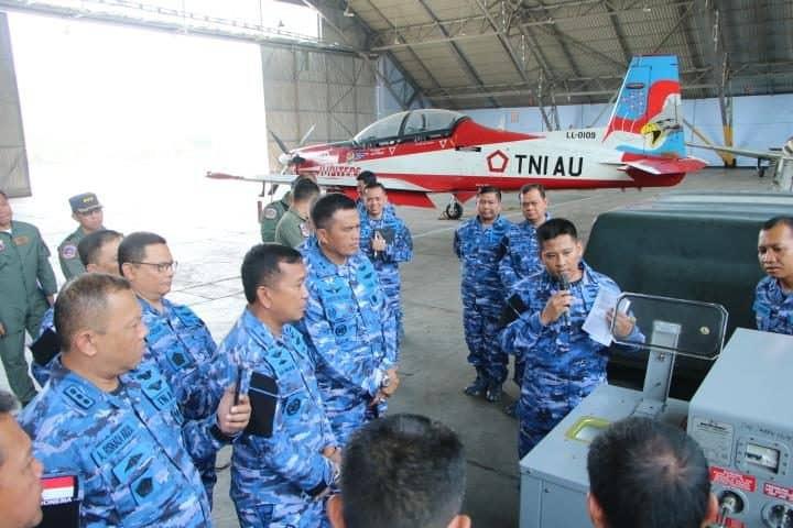 Dankoharmatau Pimpin Diskusi Pemeliharaan Ejection Seat MK KR 16 LF Pesawat KT-1B Woong Bee di Lanud Adisutjipto