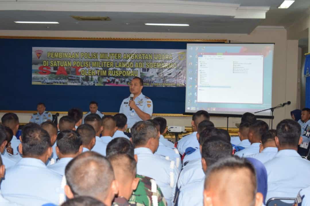 Pembinaan Polisi Militer Angkatan Udara Di Lanud Adi Soemarmo