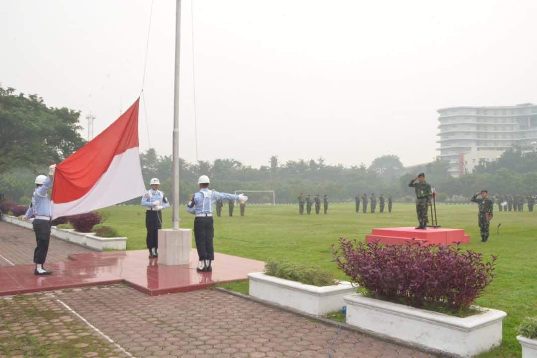 Kosekhanudnas III Gelar Upacara Bendera Mingguan Setiap Hari Senin