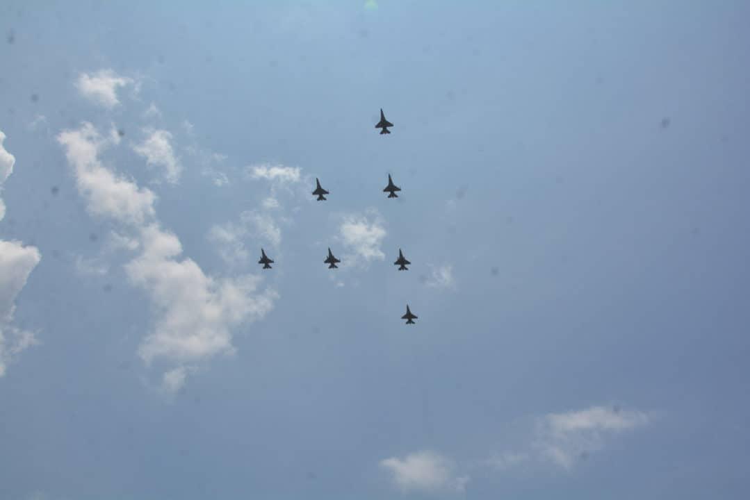 Latihan Parsial Demo Udara di Lanud Iswahjudi, jelang HUT TNI ke-74 di Jakarta