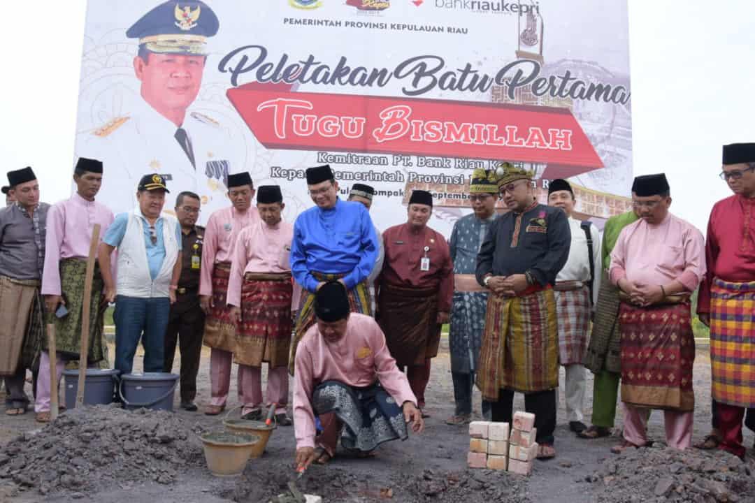 Danlanud RHF Ikuti Peletakan Batu Pertama Tugu Bismillah dan Malam Syukuran HUT ke-17 Provinsi Kepri