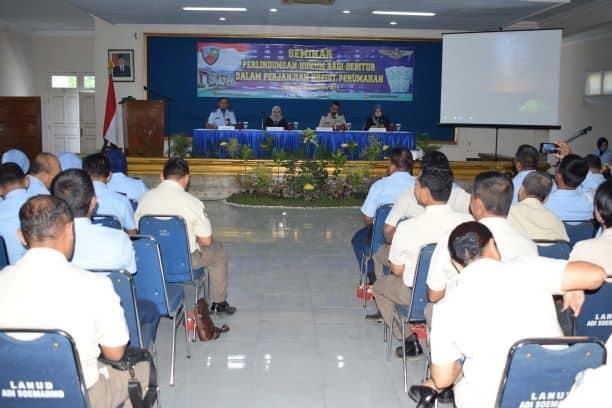 Seminar Perlindungan Hukum Bagi Debitur Dalam Perjanjian Kredit Perumahan Di Lanud Adi Soemarmo