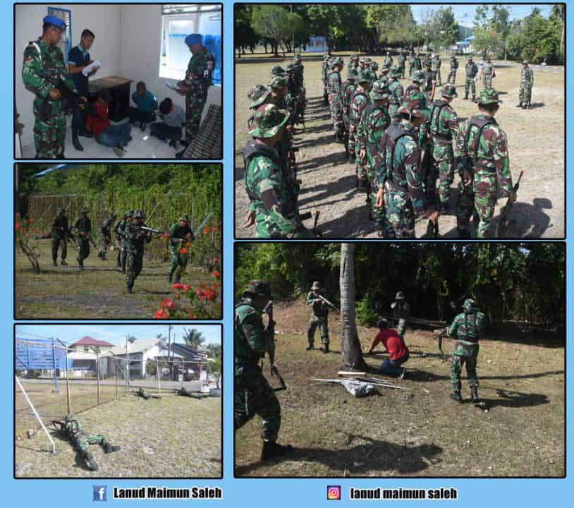 Pasukan Hanlan Lanud Maimun Saleh Mampu Menghalau Dan Menangkap Gerakan Pengacau Keamanan (GPK)