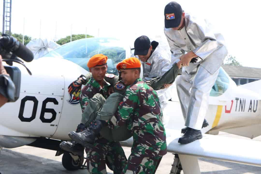 Tingkatkan Kesiagaan, Lanud Adisutjipto Gelar Latihan Crash Team