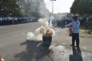 Lanud Adisutjipto Latih Anggotanya Mampu Tangani Bahaya Kebakaran