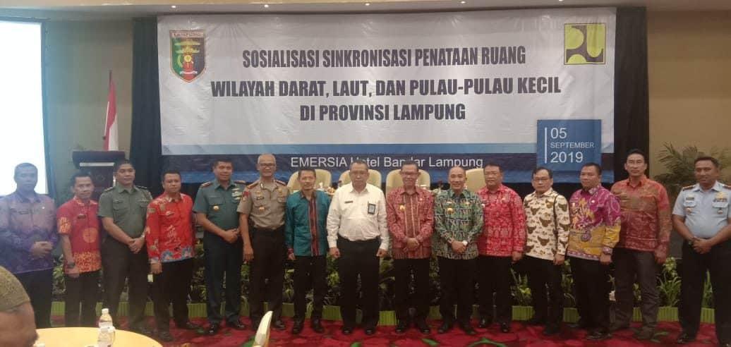 Danlanud Bny Hadiri Sosialisasi Penataan Ruang di Provinsi Lampung dan Pelantikan Pengurus Koni