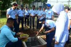 Peletakan Batu Pertama Tandai Pembangunan Mess VIP Lanud Ats