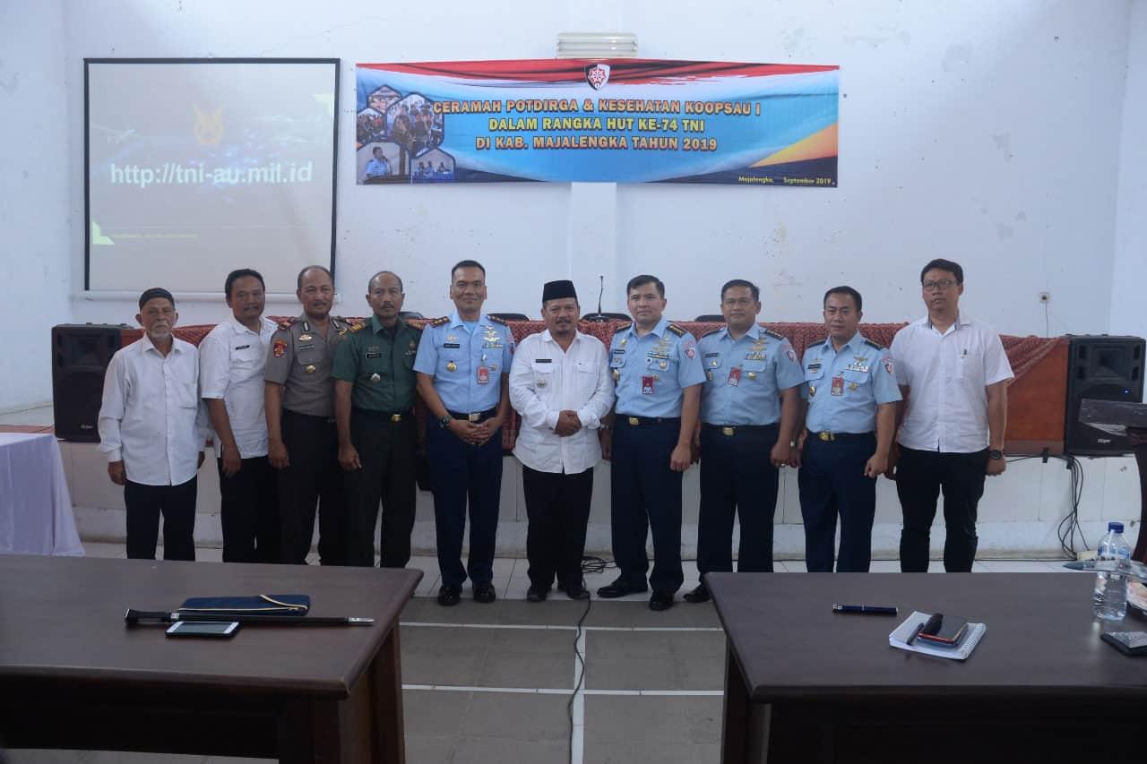 PERINGATI HUT KE 74 TNI, KOOPSAU I GELAR KOMSOS DI MAJALENGKA