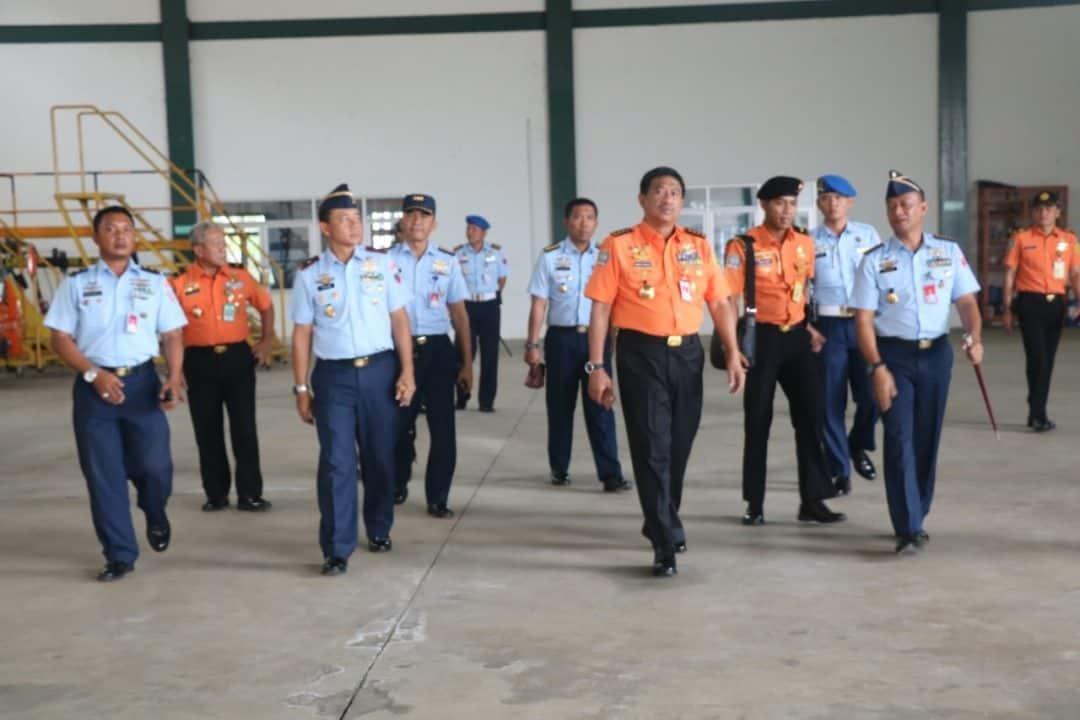 Danlanud Ats Sambut Kunjungan Kepala Badan Nasional Pencarian dan Pertolongan (BNPP)
