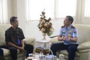 Danlanud Atang Sendjaja Menerima Kunjungan Kepala LPP RRI Bogor