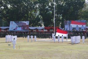 Komandan Lanud Sam Ratulangi Hadiri Upacara HUT ke-55 Provinsi Sulawesi Utara