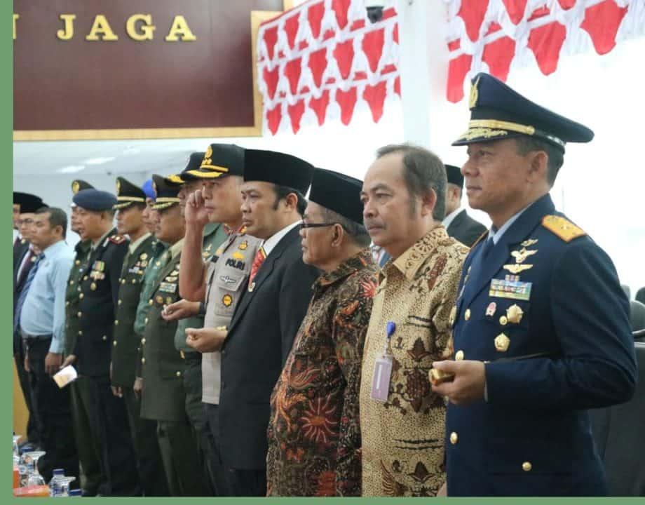 Danlanud Ats Hadiri Pelantikan Pimpinan DPRD Kota Bogor Periode 2019-2025