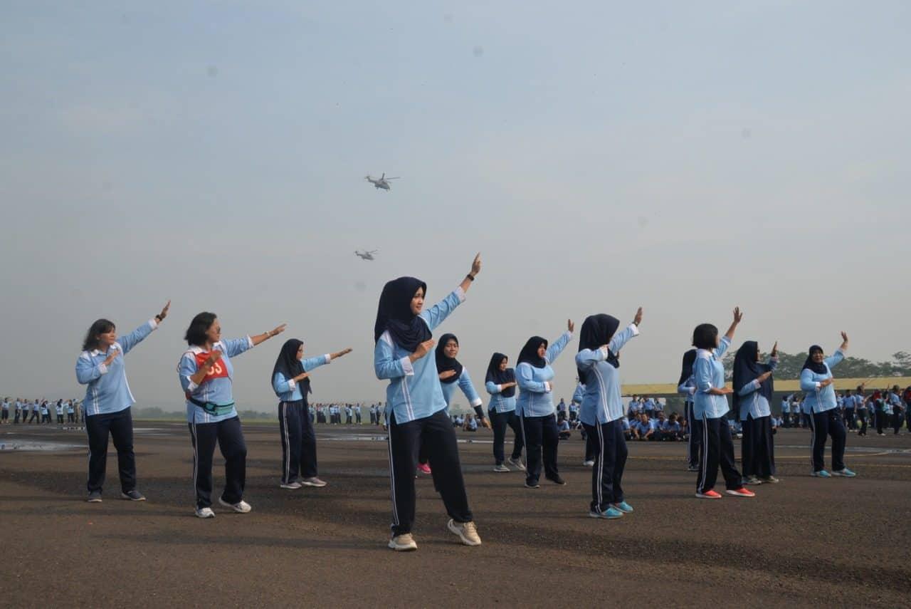 Menyambut HUT ke-74 TNI, Lanud Ats Gelar Lomba Tari Sajojo