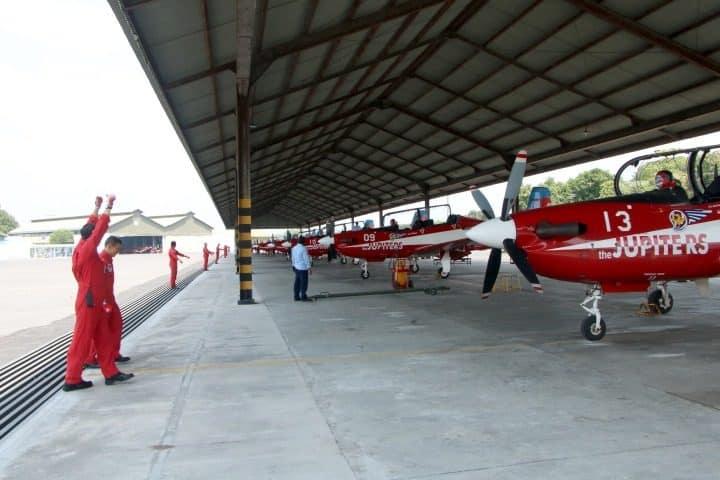 Jelang HUT ke-74 TNI, Jupiter Aerobatik Team tinggalkan home base menuju Lanud Halim Perdana Kusumah