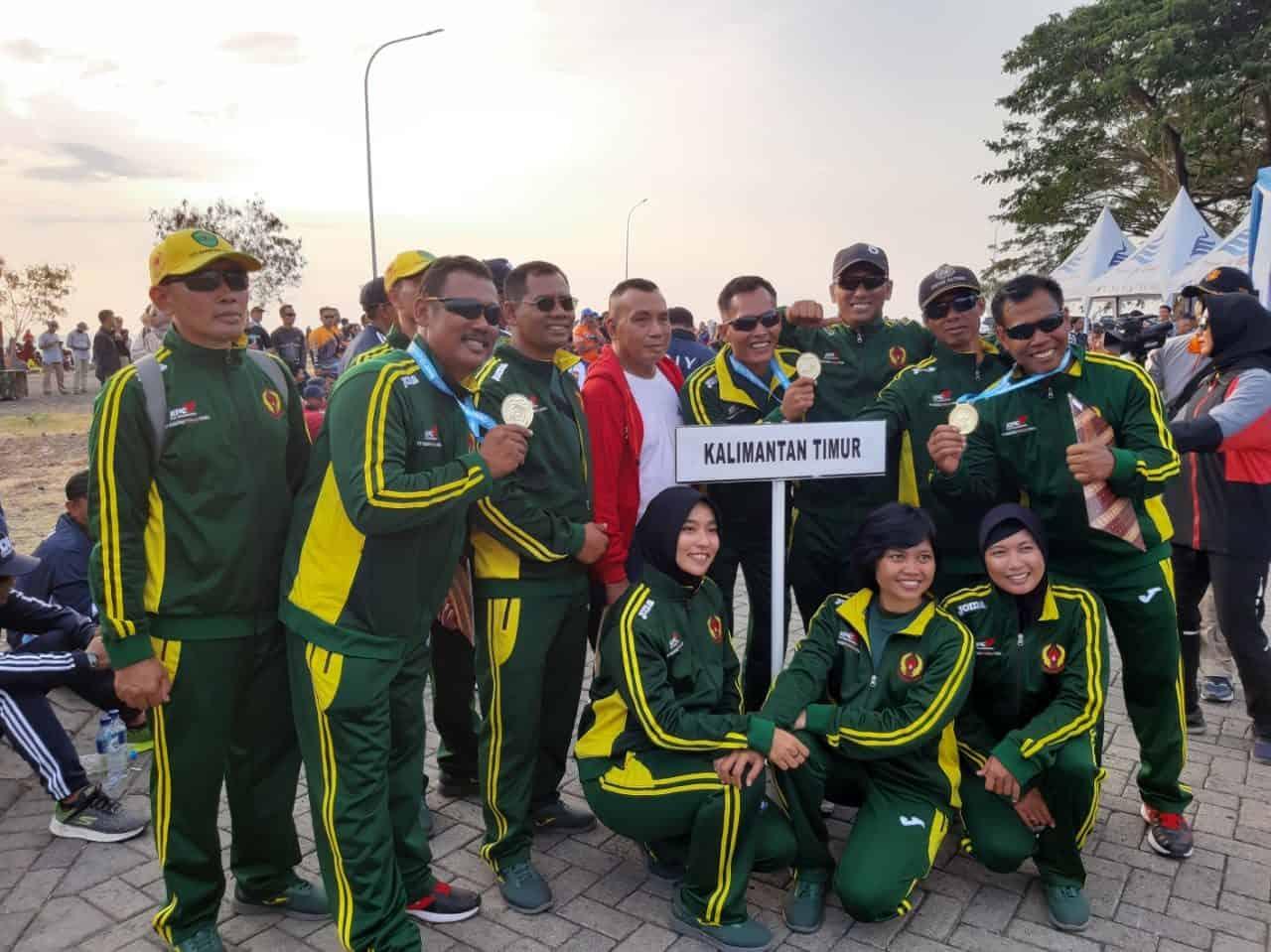 Tim Terjun Payung Prov Kalimantan Timur Sabet Medali Emas Kejurnas Terjun Payung Pra Pon XX