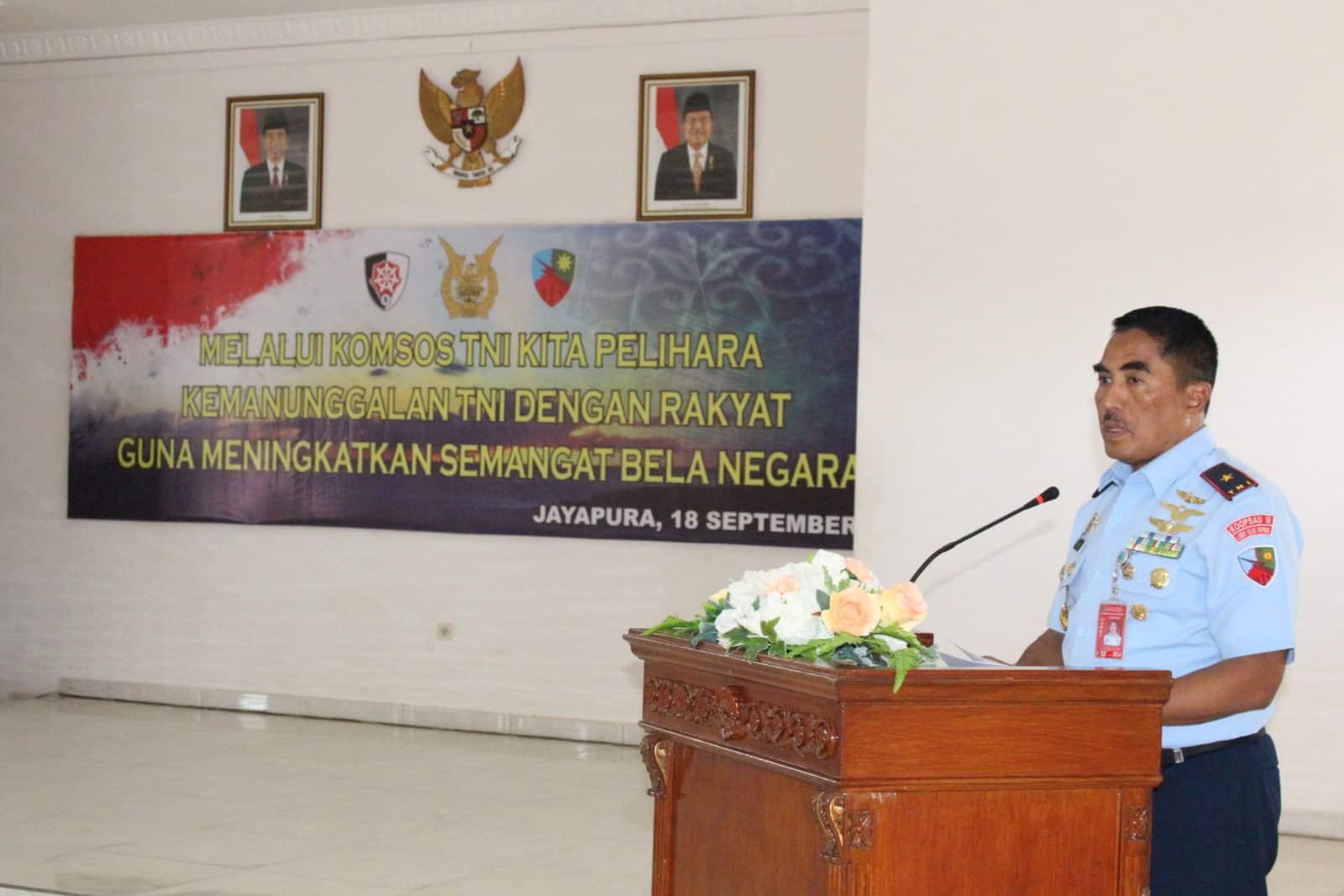 Komsos TNI di Lanud Silas Papare