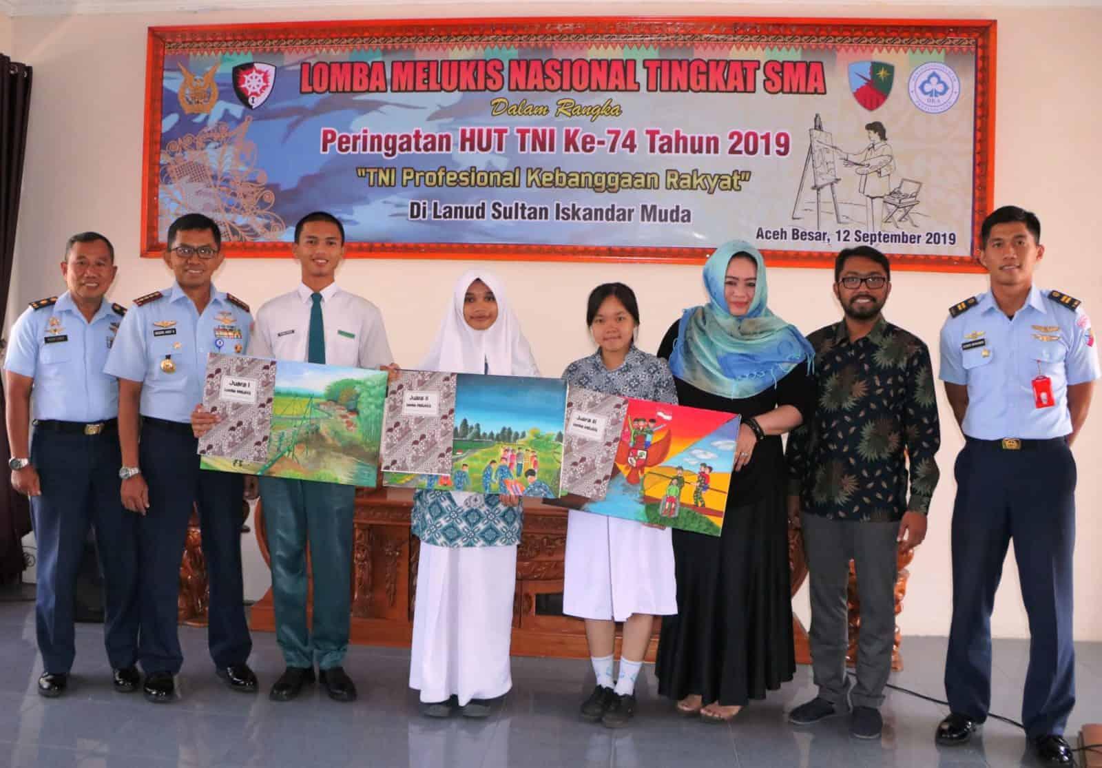 SEMARAKAN HUT KE-74 TNI, LANUD SIM ADAKAN LOMBA MELUKIS