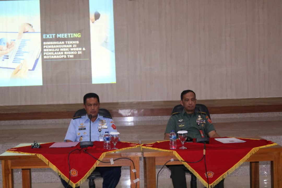 Penutupan Bimtek Reformasi Birokrasi TNI Di Makosekhanudnas III