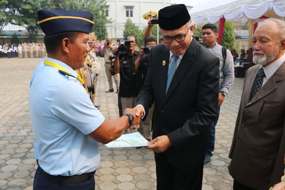 Lanud Sultan Iskandar Muda Terima Sertifikat Tanah pada Peringatan Hari Agraria Nasional 2019
