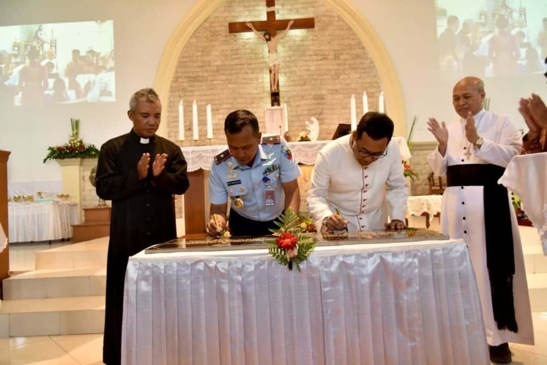 Danlanud Adisutjipto Hadiri Lustrum II dan Peresmian Revitalisasi Paroki Gereja Santo Mikael Lanud Adisutjipto