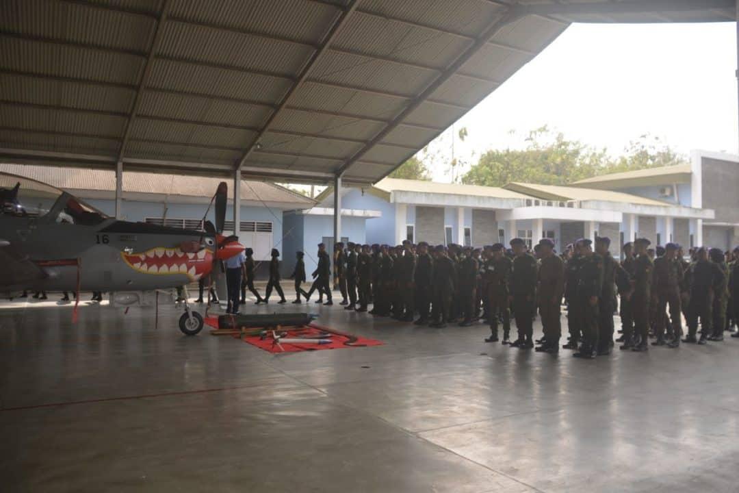 Peserta Kursus Pelatih Menwa 2019 Berkunjung ke Lanud Abdulrachman Saleh