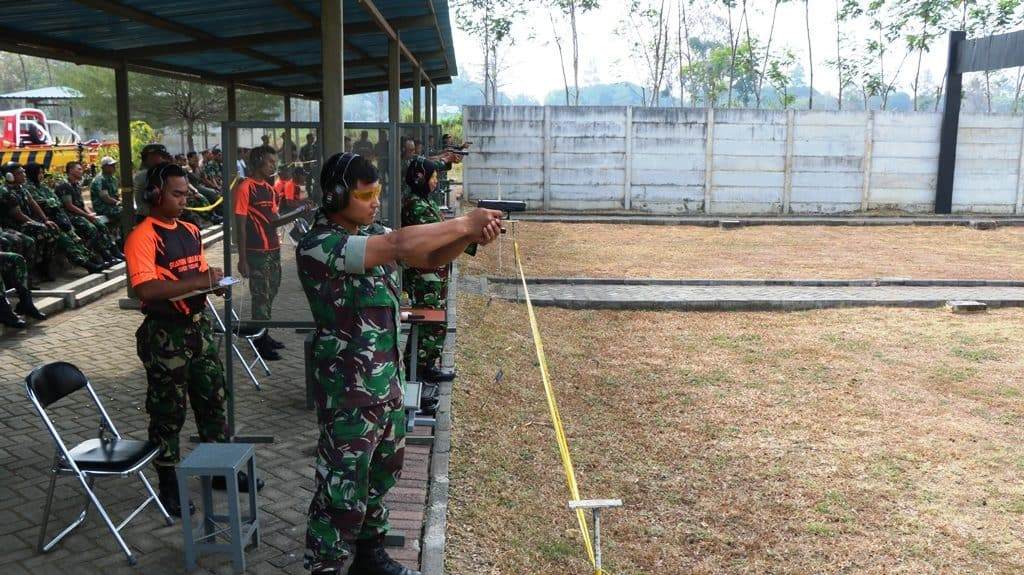 Lomba Menembak Memperingati HUT TNI 2019 di Lanud Abdulrachman Saleh