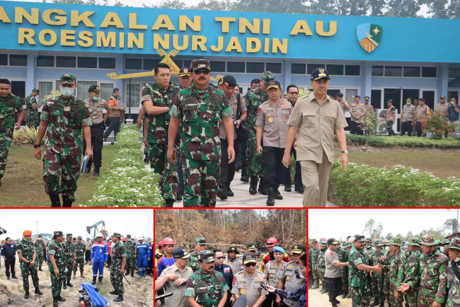 Panglima TNI dan Kapolri Tinjau Karhutla di Riau
