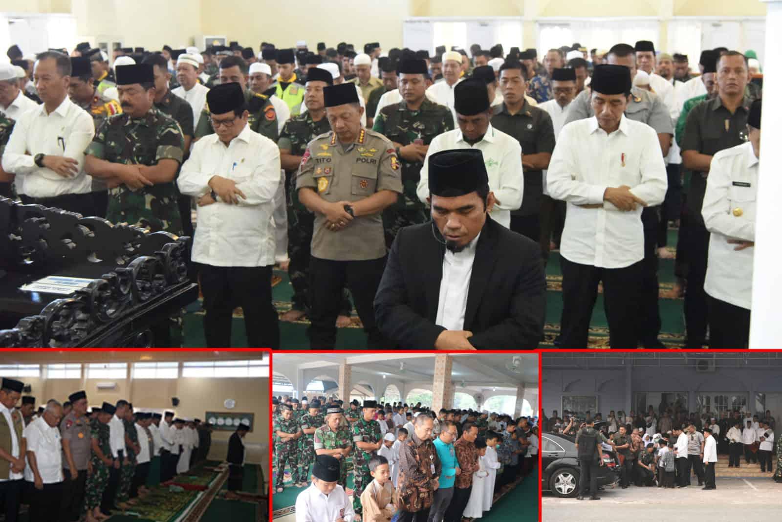 Presiden RI Shalat Istisqa di Masjid Amrullah Lanud Rsn