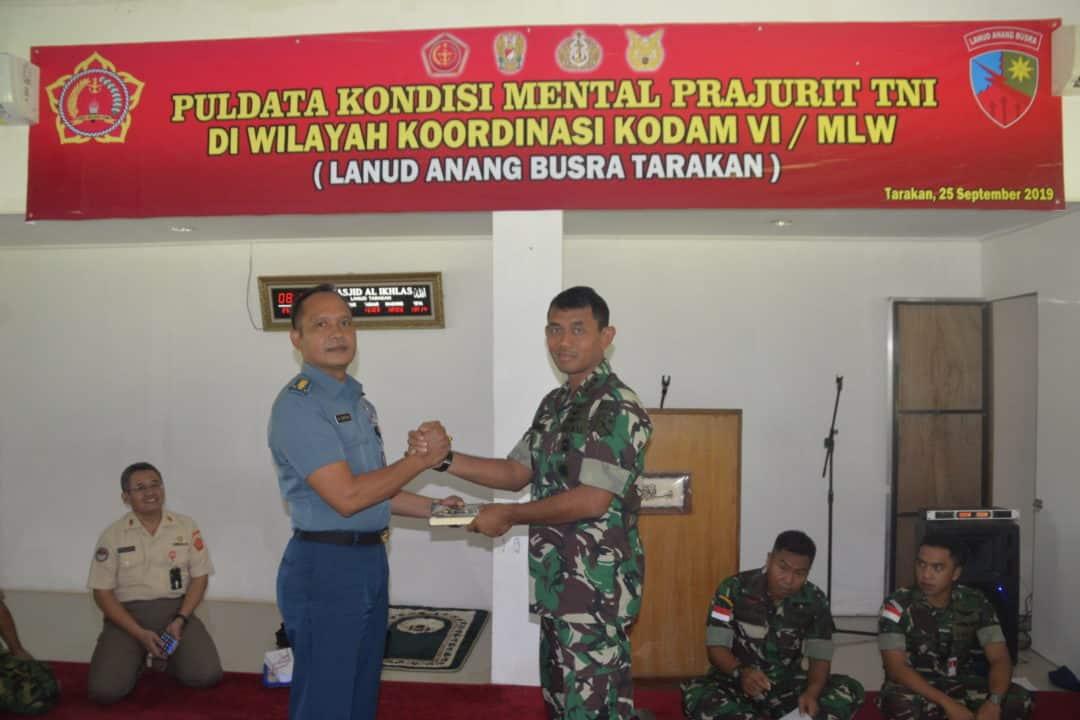 PULDATA KONDISI MENTAL PRAJURIT TNI DI LANUD ANANG BUSRA