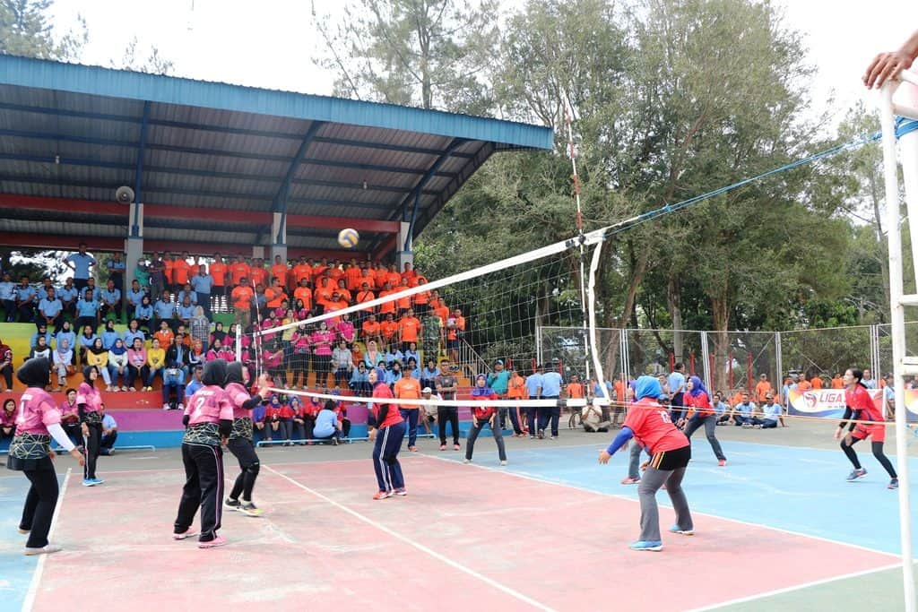 Tim Bola Voli Putri Dispers Lanud Abd Saleh Kalahkan Tim Denmatra 2