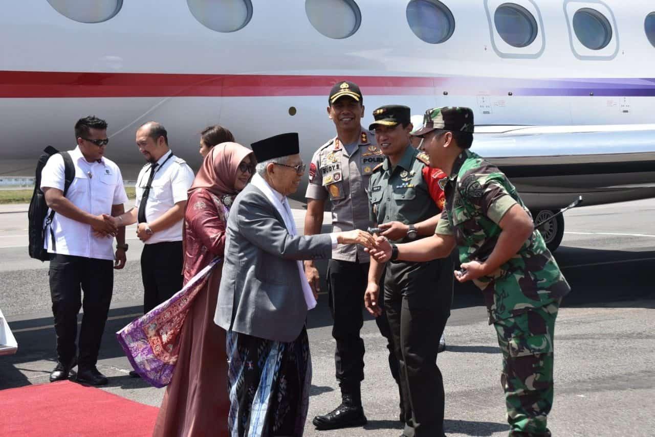 Danlanud Husein S. Sambut Kedatangan Wakil Presiden RI Terpilih