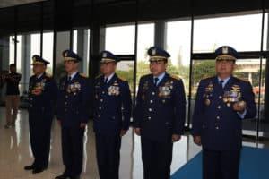 Kasau Sematkan Bintang Swa Bhuwana Paksa Pratama Kepada 11 Pati TNI AU