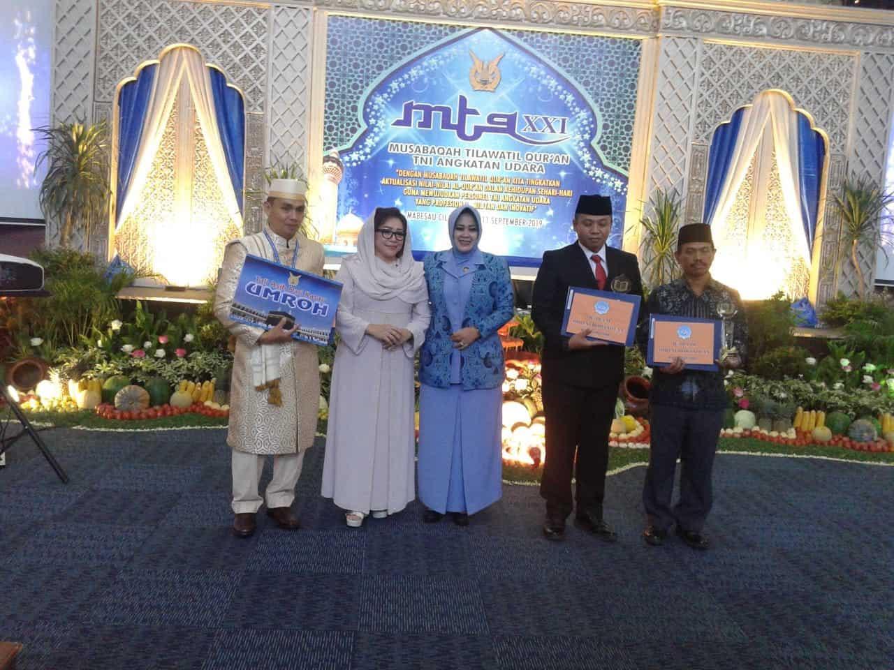 Kontingen AAU di Event MTQ TNI AU ke-21