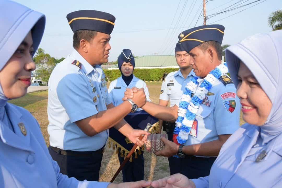 Danlanud RHF Lepas Personel Perwira Purna Tugas
