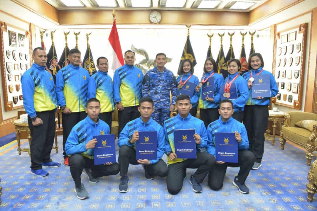 Kasau Sambut Kontingen Karate TNI AU