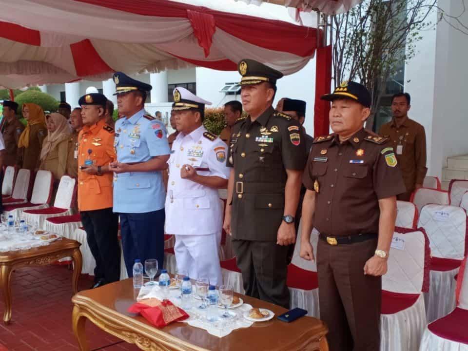 Danlanud RHF Hadiri Upacara Peringatan Hari Perhubungan Nasional Tingkat Provinsi Kepulauan Riau Tahun 2019