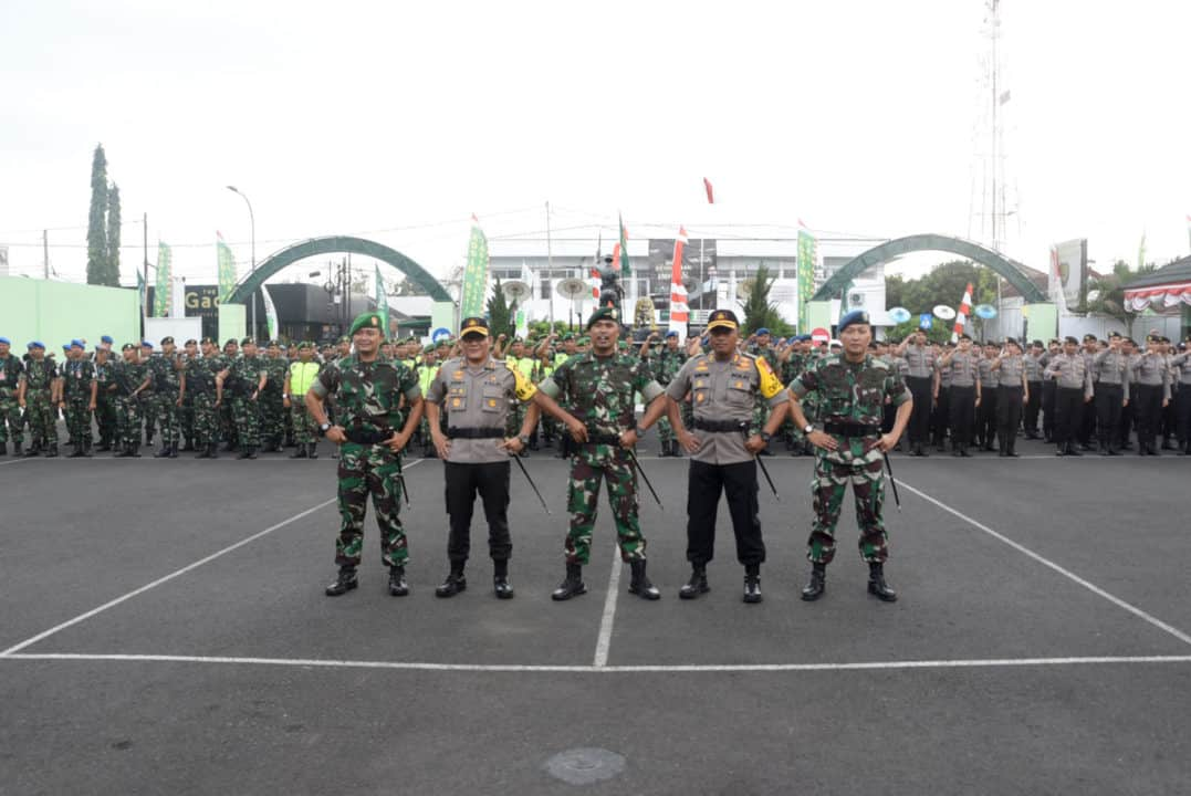 DANLANUD WIRIADINATA HADIRI APEL GABUNGAN SIAGA TNI POLRI DALAM RANGKA MENINGKATKAN KONDUSIFITAS JELANG PELANTIKAN PRESIDEN 2019