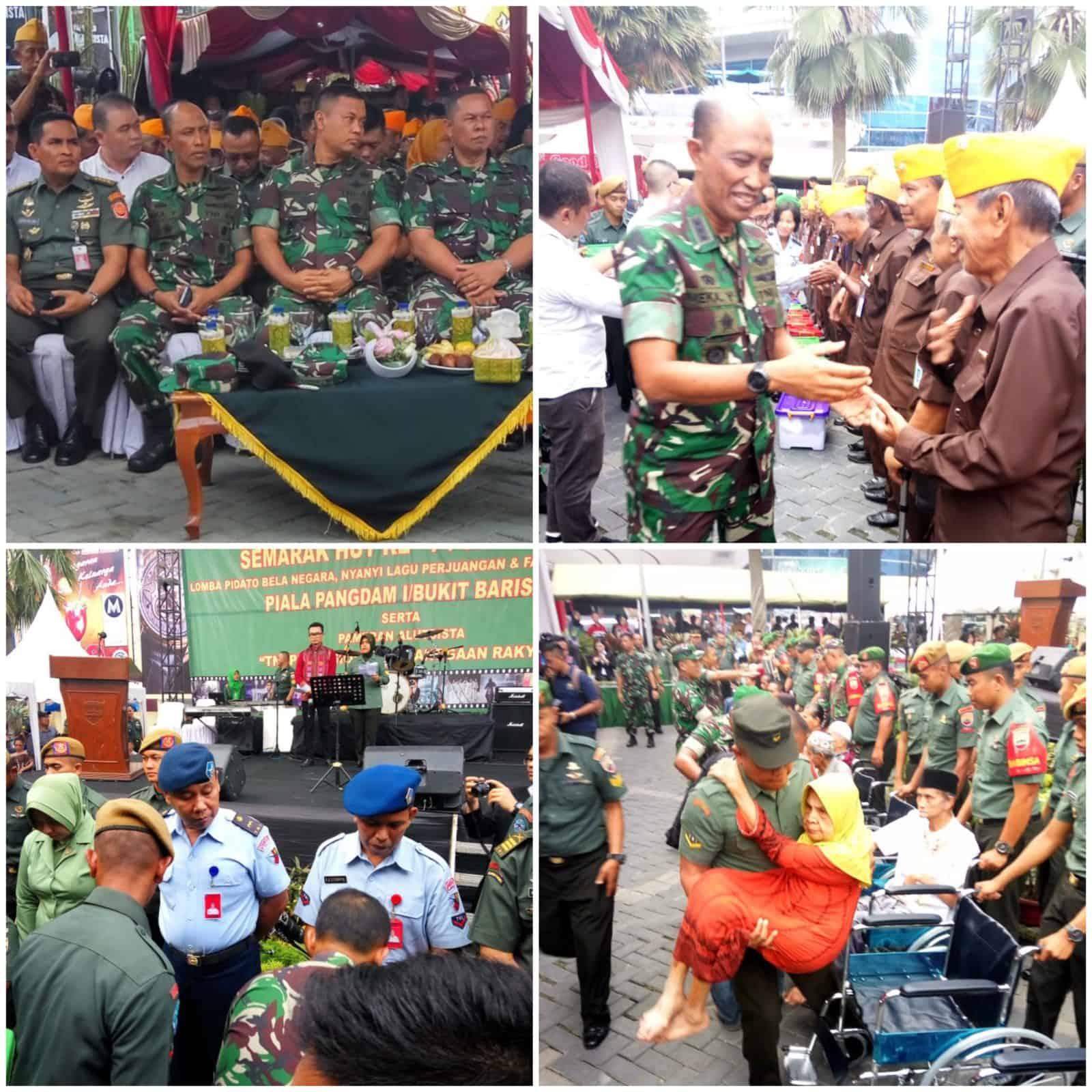 SEMARAK HUT KE-74 TNI TAHUN 2019 DI RINGROAD CITY WALKS MEDAN