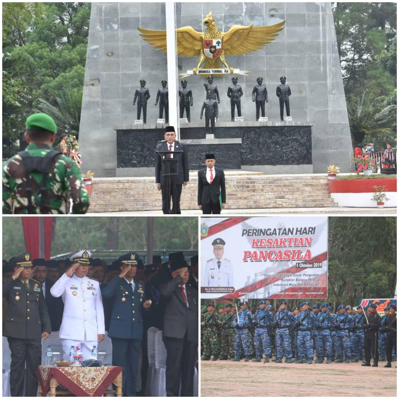 Danlanud Soewondo Mengikuti Upacara Hari Kesaktian Pancasila di Bandar Betsy kabupaten Simalungun