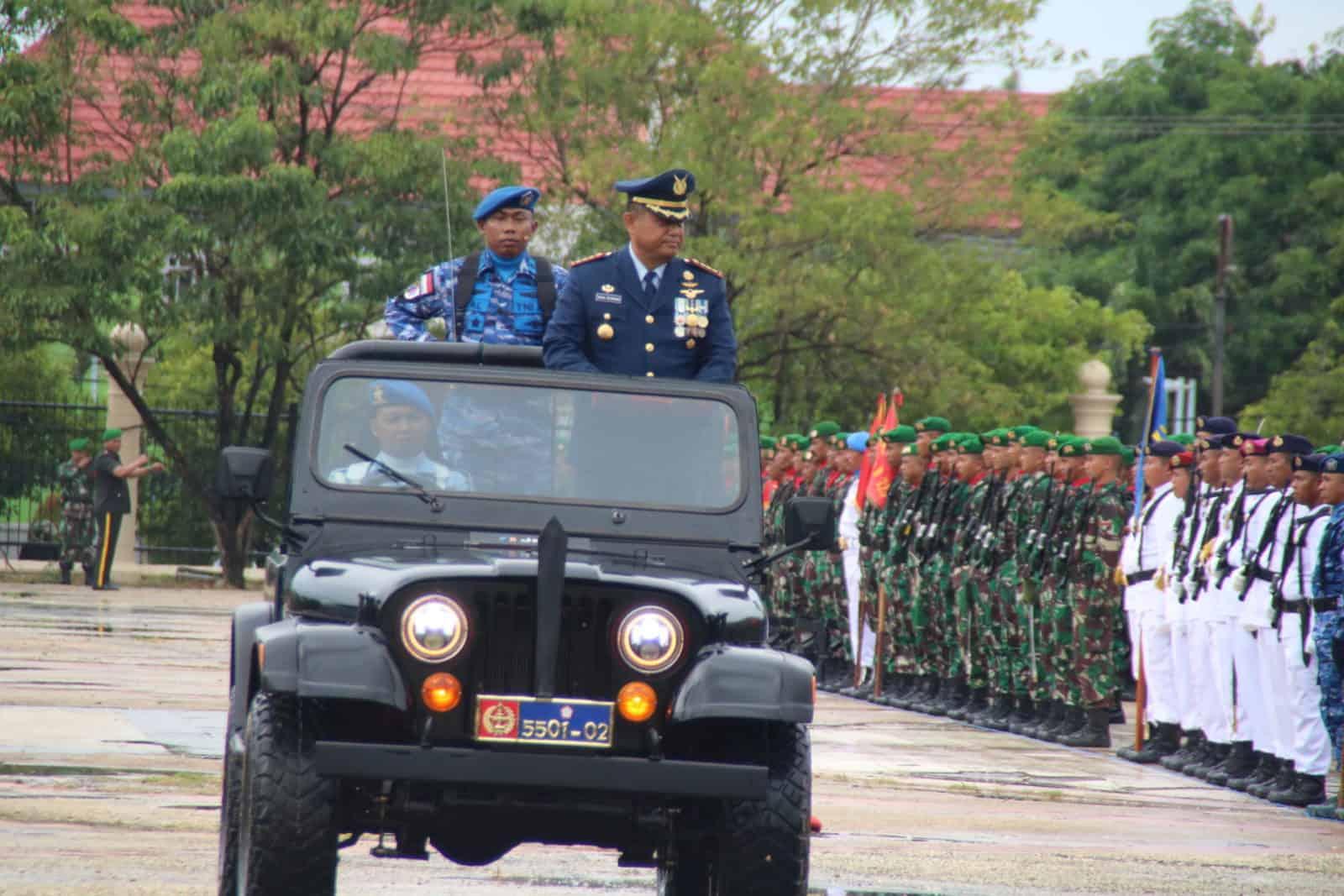 Upacara HUT TNI KE-74 di Provinsi Sultra