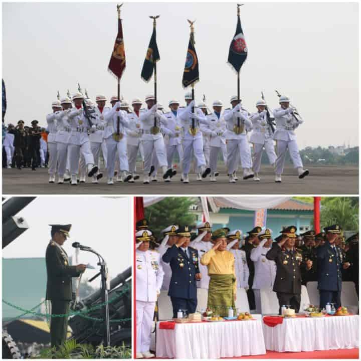 Rakyat dan TNI Bersatu Rayakan HUT ke-74 TNI Di Apron Bravo Lanud Soewondo