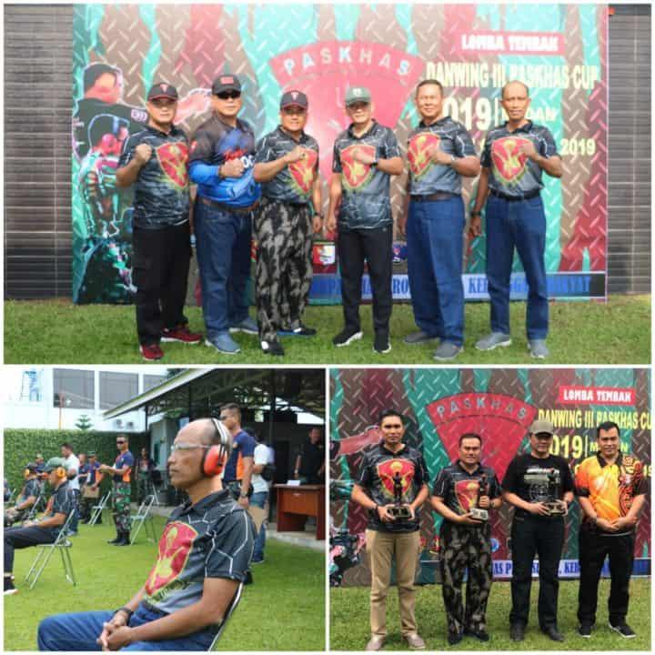 Danlanud Soewondo Hadiri Lomba Tembak Danwing III Paskhas Cup 2019