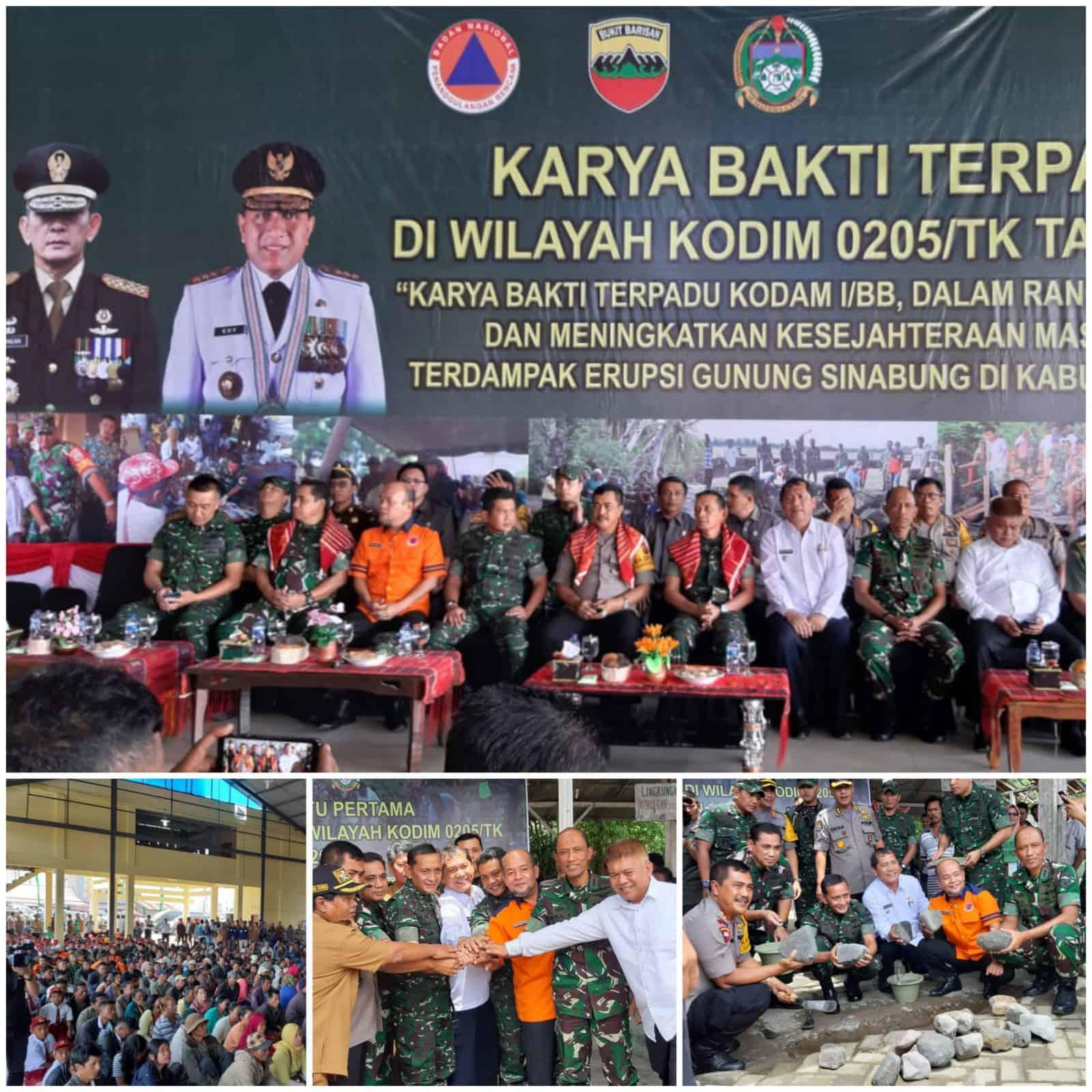 Danlanud Soewondo Hadiri Karya Bakti Terpadu Di Wilayah Kodim 0205/TK Kabupaten Karo