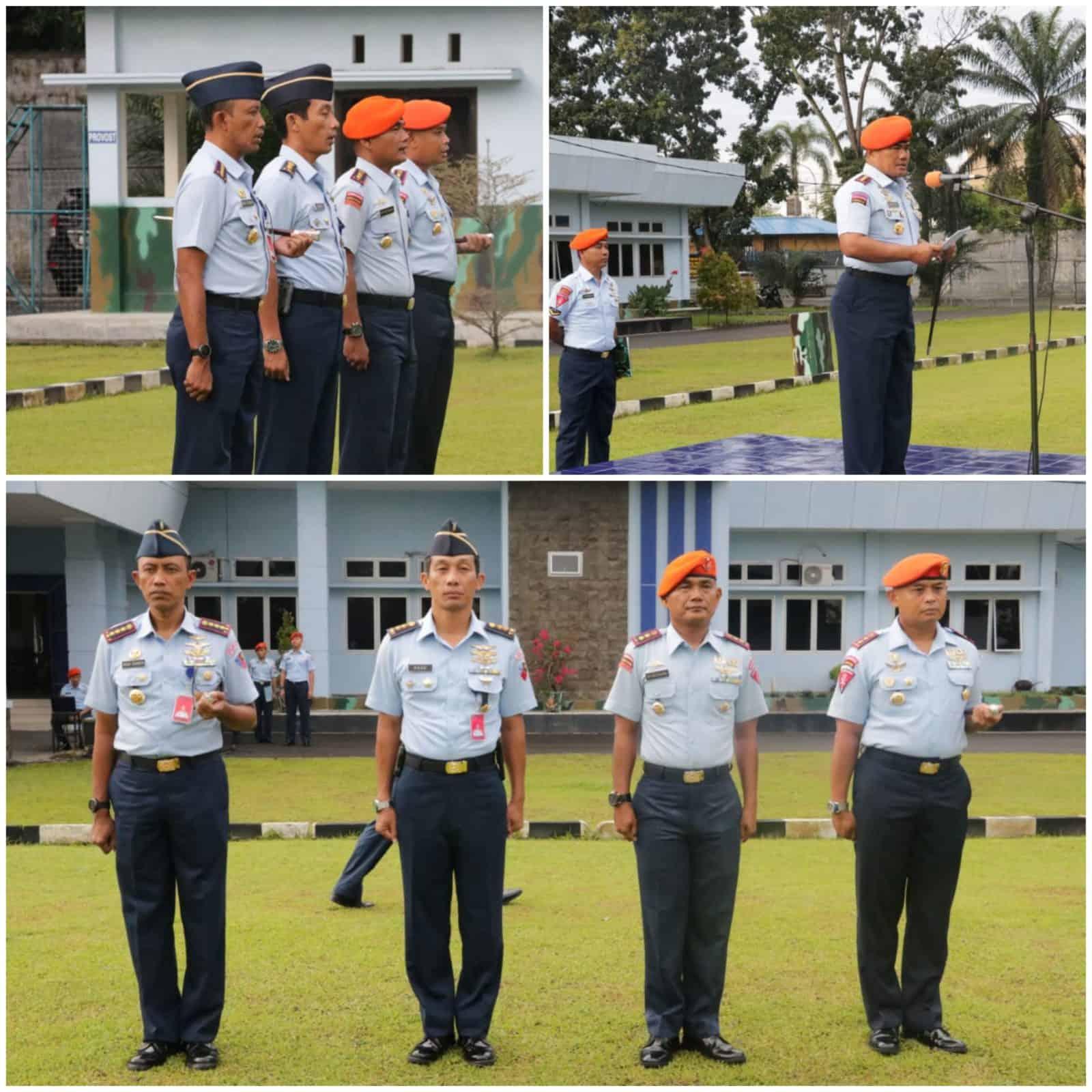 Danlanud Soewondo Mengikuti Upacara Peringatan Hari Sumpah Pemuda ke-91 di Wing III Paskhas