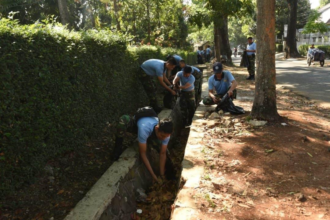 Menyabut HUT 300 Personel Koharmatau Besih Lingkungan